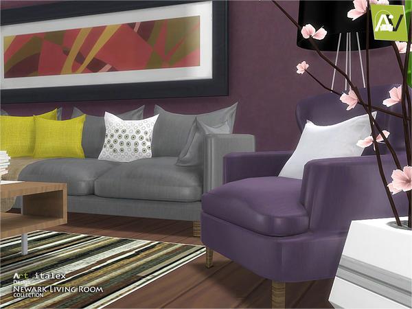 Sims 4 Newark Living Room by ArtVitalex at TSR
