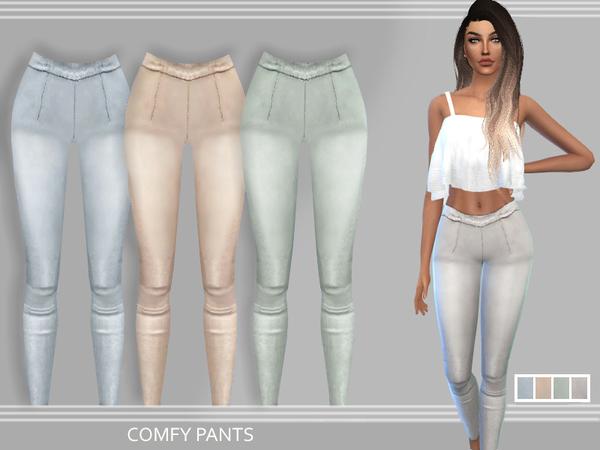 Sims 4 Comfy Pants by Puresim at TSR