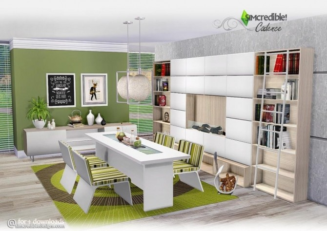 Cadence diningroom at SIMcredible! Designs 4 » Sims 4 Updates