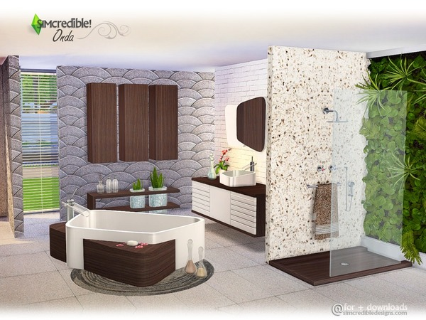 Onda bathroom by simcredible at tsr sims 4 updates for Salle a manger sims 4