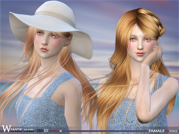 HAIR TEO 101 F by wingssims at TSR image 532 Sims 4 Updates