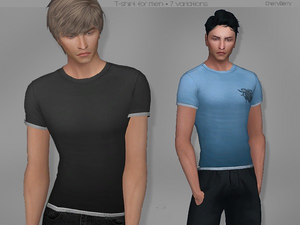 Sims 4 Mistaken T shirt for men by CherryBerrySim at TSR
