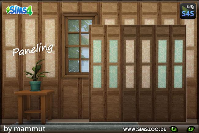 Sims 4 Paneling wall 1 by mammut at Blacky's Sims Zoo
