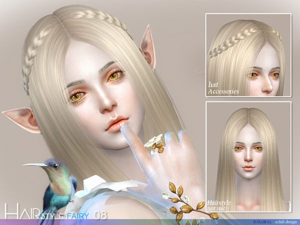 Fairy N8 hair by S Club at TSR image 57 Sims 4 Updates