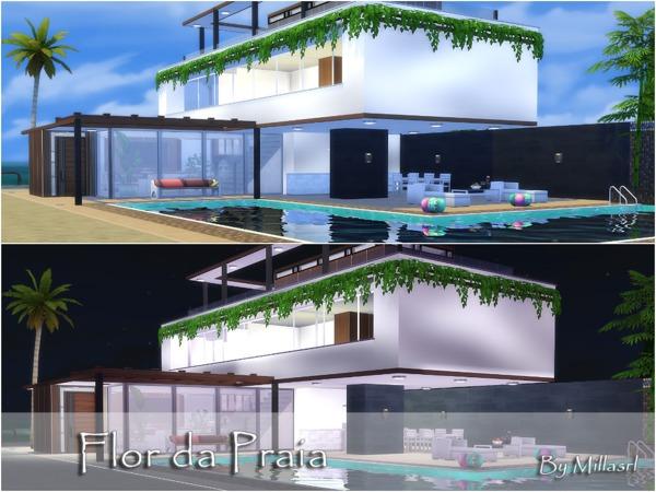 Sims 4 Flor da Praia house by millasrl at TSR