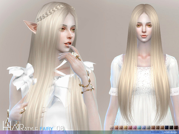 Fairy N8 hair by S Club at TSR image 58 Sims 4 Updates