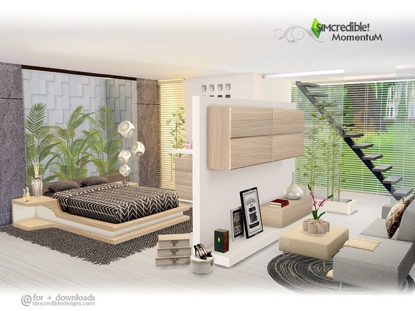 Momentum bedroom by SIMcredible at TSR image 580 Sims 4 Updates