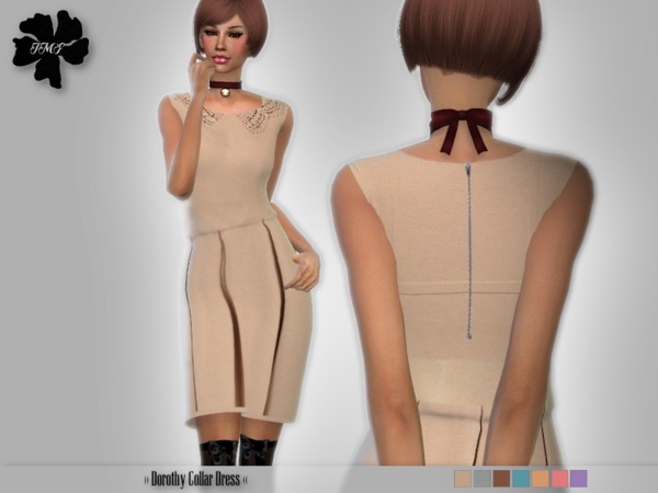 IMF Dorothy Collar Dress by IzzieMcFire at TSR image 594 Sims 4 Updates