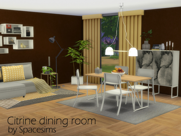 Sims 4 Citrine dining room by spacesims at TSR