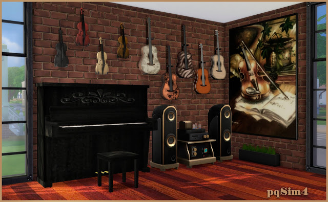 Cleo music room by Mary Jiménez at pqSims4 image 608 Sims 4 Updates