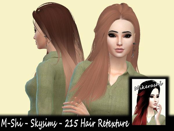 Sims 4 M Shi Skysims 215 Hair Retexture by mikerashi at TSR