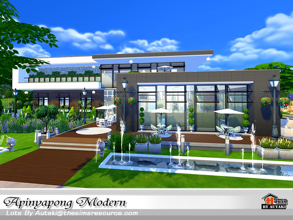 Apinyapong Modern house by autaki at TSR image 6100 Sims 4 Updates