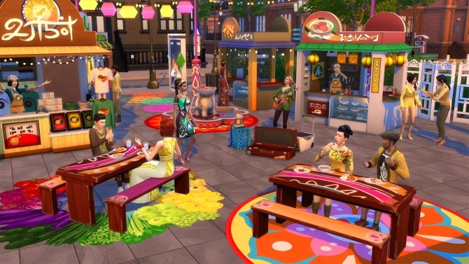 Nom Some Noms at the Spice Festival in The Sims 4 City Living at The Sims™ News image 6215 670x377 Sims 4 Updates