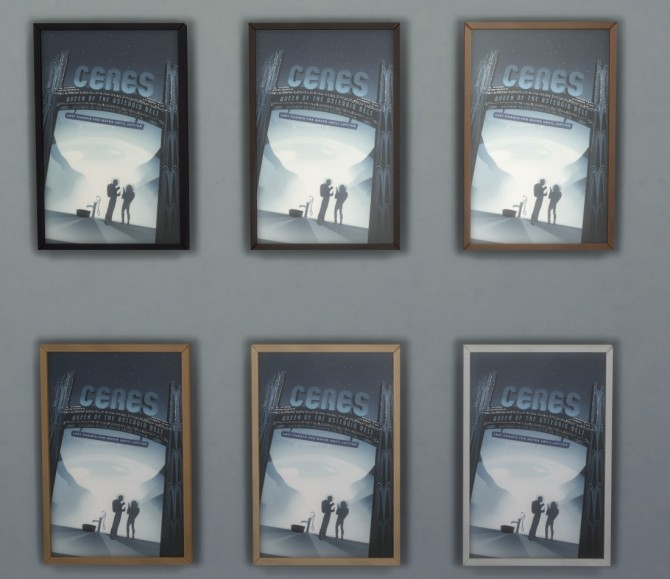 Visions of the Future Retro NASA posters in 4 versions by Madhox at Mod The Sims image 623 670x579 Sims 4 Updates