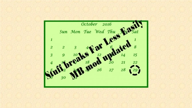 Sims 4 Updated Stuff breaks far less easily by MB by catalina 45 at Mod The Sims