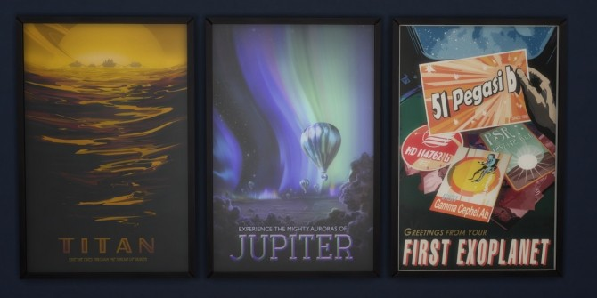 Visions of the Future Retro NASA posters in 4 versions by Madhox at Mod The Sims image 643 670x335 Sims 4 Updates