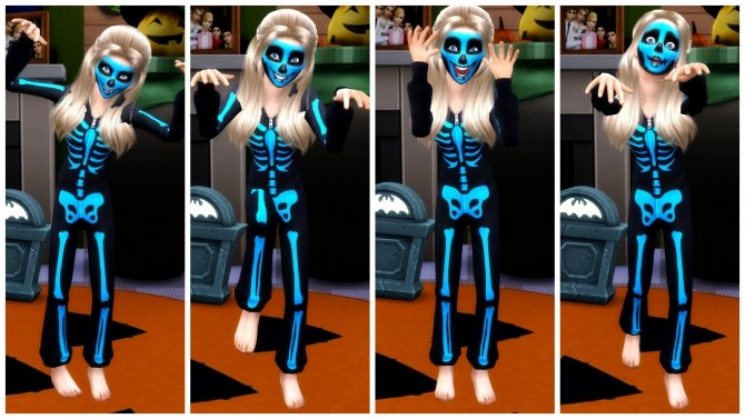 Sims 4 Scary Kid Pose Pack at RomerJon17 Productions