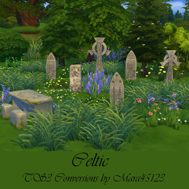 Celtic tombstones and picnic table at Mara45123 image 659 Sims 4 Updates