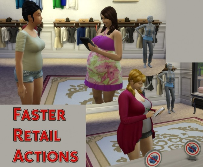 Sims 4 Faster Retail Actions by Simstopics at SimsWorkshop