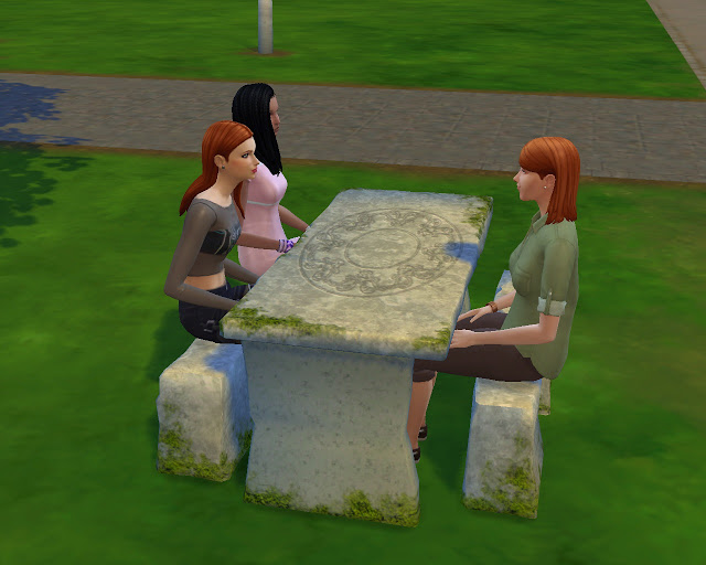 Sims 4 Celtic tombstones and picnic table at Mara45123