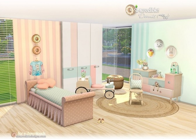 Donuts kidsroom at SIMcredible! Designs 4 image 6815 670x474 Sims 4 Updates