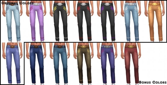 Sims 4 Dia de los Muertos Jeans Separated by VentusMatt at Mod The Sims