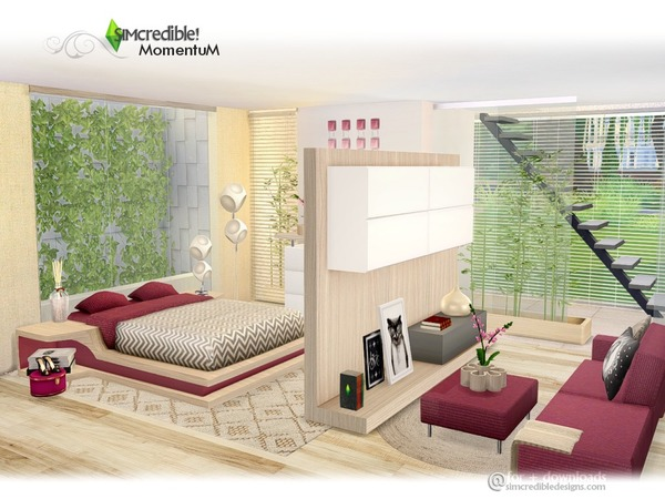 Momentum bedroom by SIMcredible at TSR image 690 Sims 4 Updates