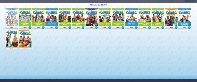 Sims 4 Flash Based In Game Pack Browser by weerbesu at Mod The Sims