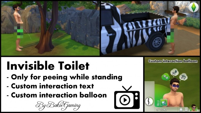 Invisible Toilet only for men by Bakie at Mod The Sims image 71 670x377 Sims 4 Updates