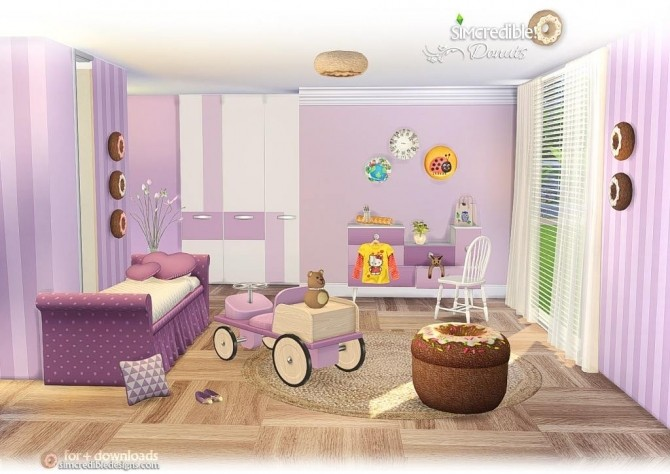 Donuts kidsroom at SIMcredible! Designs 4 image 7118 670x474 Sims 4 Updates