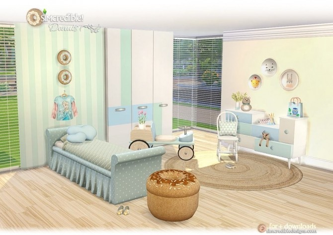 Donuts kidsroom at SIMcredible! Designs 4 image 7217 670x474 Sims 4 Updates