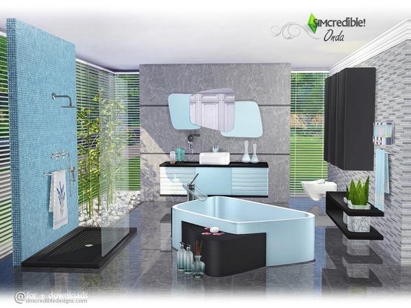 Sims 4 Onda bathroom by SIMcredible at TSR