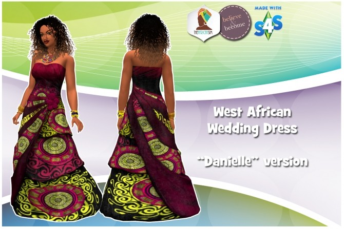 West African Wedding Dress at The African Sim » Sims 4 Updates