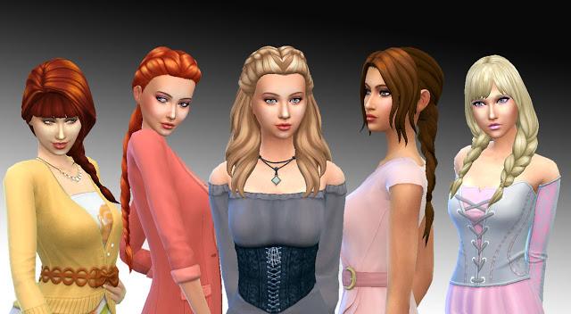 Sims 4 Female Braids Hairs Pack at My Stuff