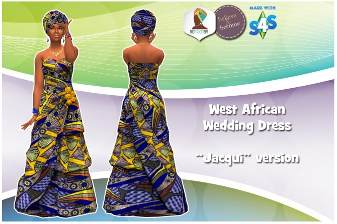 West African Wedding Dress At The African Sim 187 Sims 4 Updates