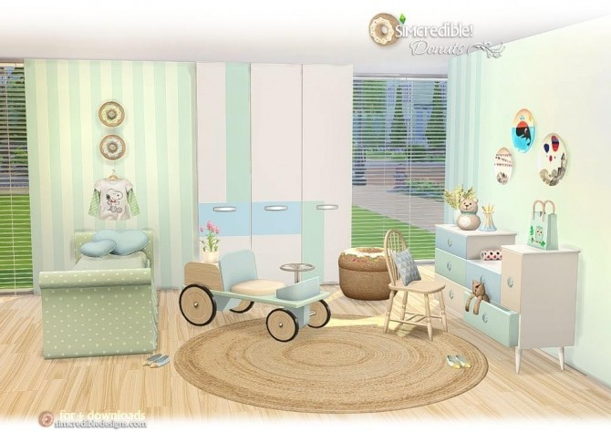 Donuts kidsroom at SIMcredible! Designs 4 image 7615 670x474 Sims 4 Updates