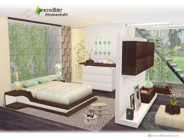 Momentum bedroom by SIMcredible at TSR image 770 Sims 4 Updates