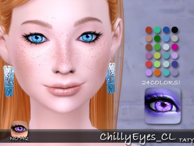 Sims 4 Chilly Eyes CL by Taty86 at SimsWorkshop