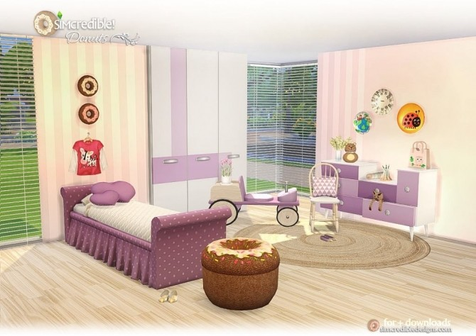 Donuts kidsroom at SIMcredible! Designs 4 image 7716 670x474 Sims 4 Updates