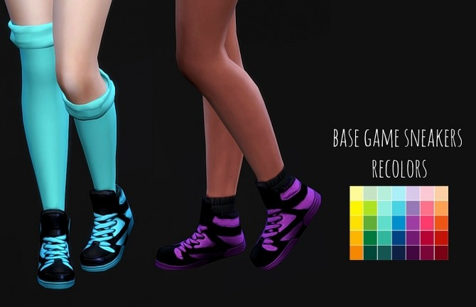 Sims 4 Base Game Sneakers Recolors at Maimouth Sims4