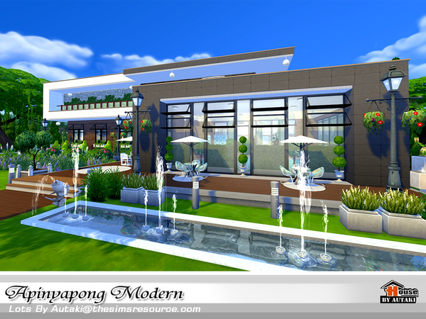 Apinyapong Modern house by autaki at TSR image 780 Sims 4 Updates