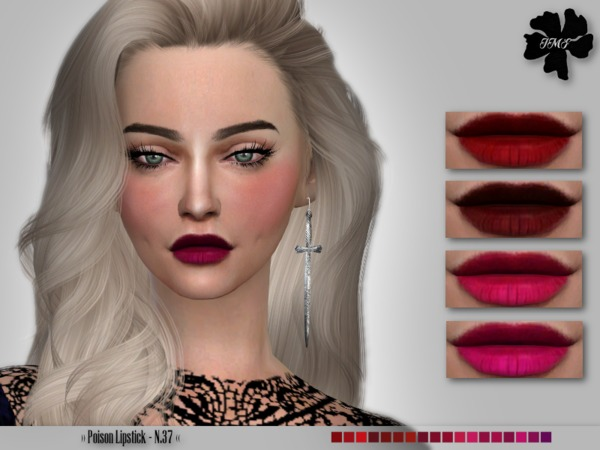 IMF Poison Lipstick N.37 by IzzieMcFire at TSR image 7811 Sims 4 Updates