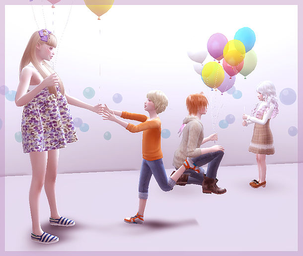 Balloon Poses 03 At A Luckyday 187 Sims 4 Updates