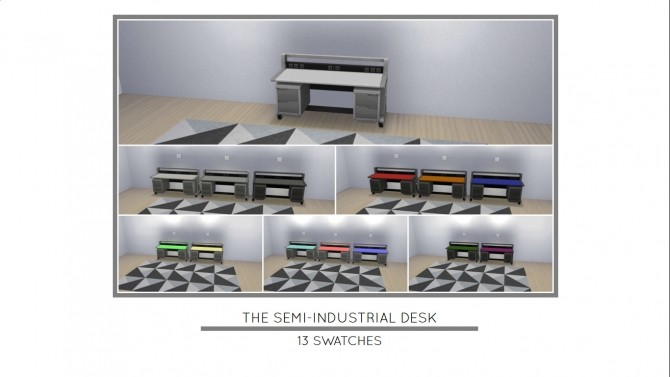 The Semi Industrial Desk by MrMonty96 at Mod The Sims image 793 670x377 Sims 4 Updates
