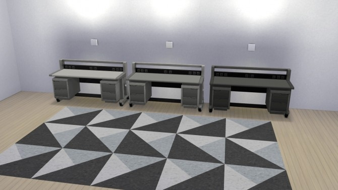 Sims 4 The Semi Industrial Desk by MrMonty96 at Mod The Sims