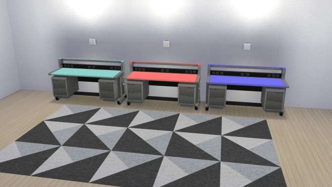 The Semi Industrial Desk by MrMonty96 at Mod The Sims image 816 670x377 Sims 4 Updates