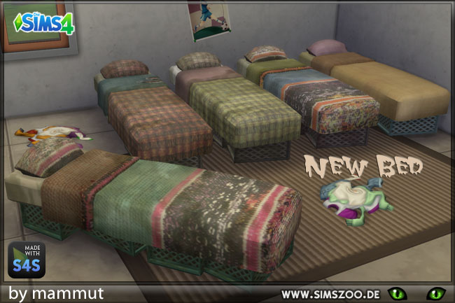 Sims 4 Single bed crates by mammut at Blacky's Sims Zoo
