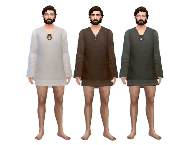 Mens Medieval Sleeping Tunic by Anni K at Historical Sims Life image 856 Sims 4 Updates