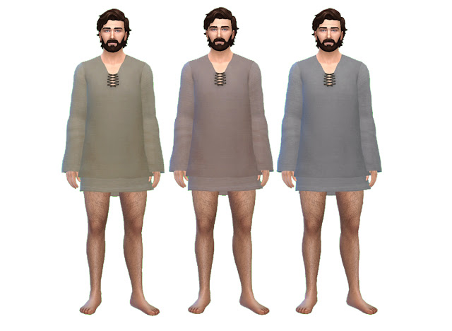 Mens Medieval Sleeping Tunic by Anni K at Historical Sims Life image 875 Sims 4 Updates