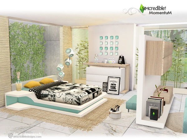 Momentum bedroom by SIMcredible at TSR image 880 Sims 4 Updates
